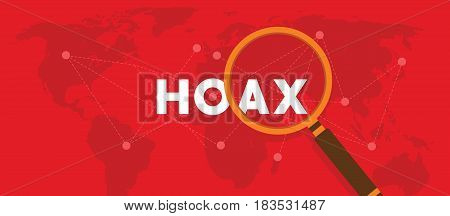 hoax information and fake news vector illustration