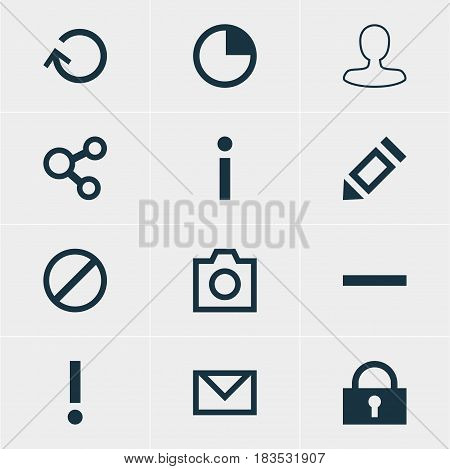 Vector Illustration Of 12 Member Icons. Editable Pack Of Pen, Access Denied, Man Member And Other Elements.