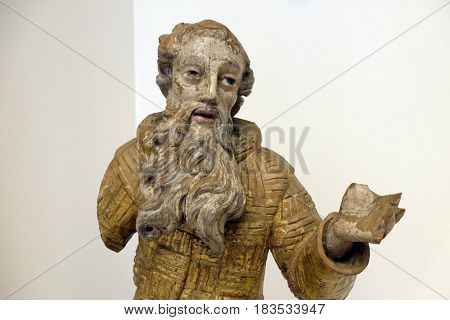 ZAGREB, CROATIA - FEBRUARY 17: St. Paul the Hermit from the Paulist church in Veternica, the first half of the 18th century, in Zagreb, Croatia on February 17, 2015