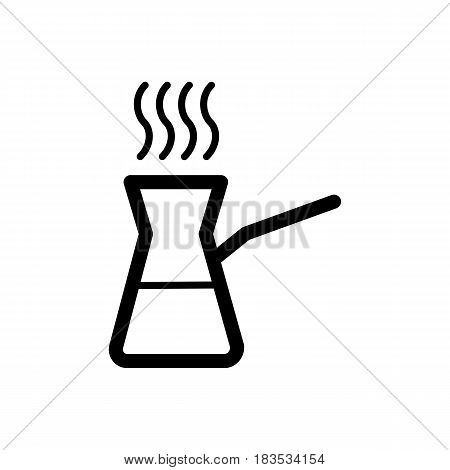 Coffee turk vector icon isolated on white background. Coffee turk icon. Coffee turk icon for infographic, website or app. eps 10