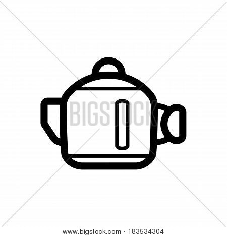 Kettle vector Icon. Isolated on white background. Eps 10