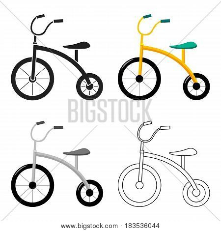 Tricycle icon in cartoon style isolated on white background. Play garden symbol vector illustration.
