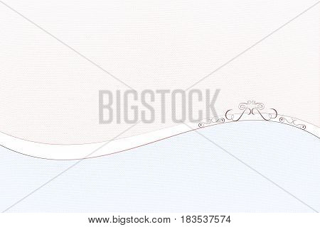 textile textured background design with wave and ornament - pastel color in light reddish brown and blue