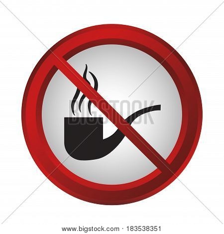 no smoke sign icon over white background. colorful design. vector illustration