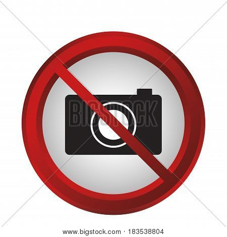forbidden photos sign icon over white background. colorful design. vector illustration