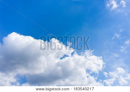 View on white clouds in the endless sky. Cloudy Day. Clouds Formations