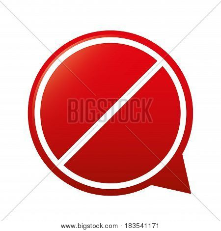 blank forbidden sign in circle shape icon over white background. colorful design. vector illustration