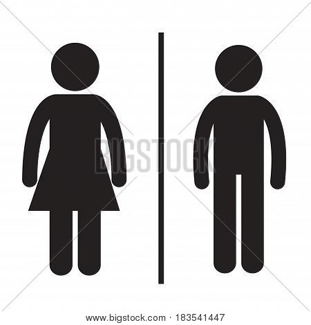 pictogram man and woman icon over white background. vector illustration