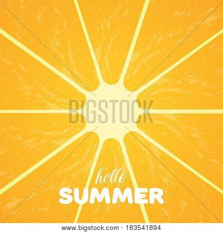 Orange Pulp And Hello Summer Text