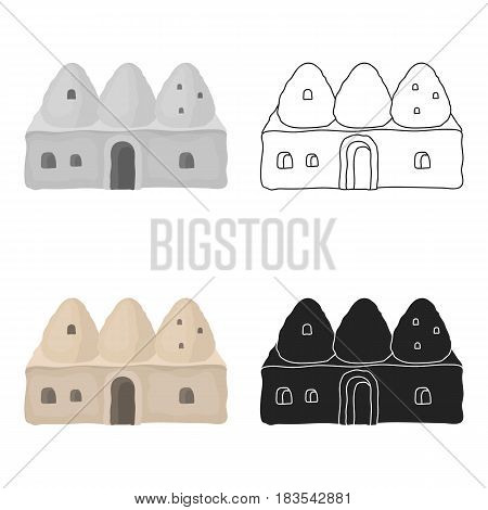 Beehive house icon in cartoon style isolated on white background. Turkey symbol vector illustration.