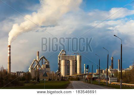 Cement factory manufacturing metal pipe plant commercial concrete construction