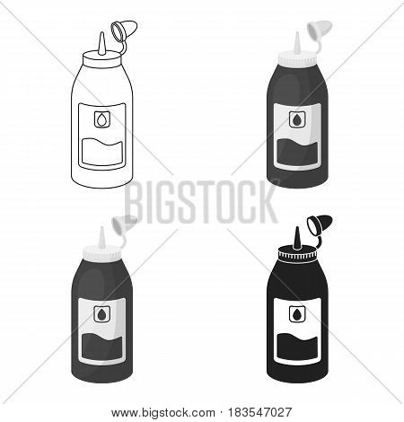 Ink in cartoon style isolated on white background. Typography symbol vector illustration.