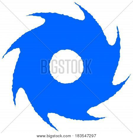 A vector illustration of a Hurricane symbol.