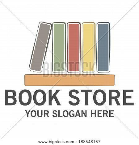 Book store logo design vector eps 10