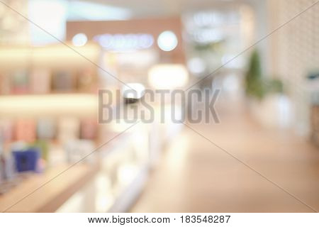 Blurred background Blur store with bokeh light background
