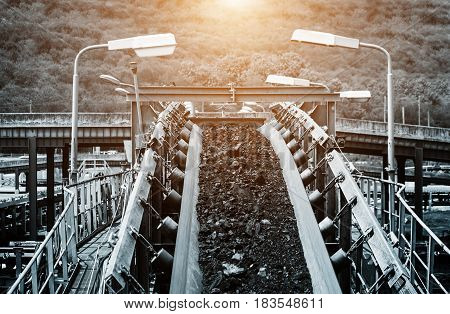 Coal conveyor system to the next step in the process of coal mining.
