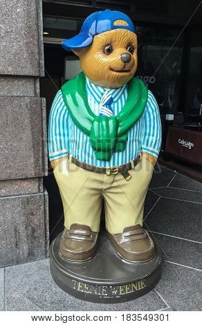 Teddy Bear Statue At The Toy Shop