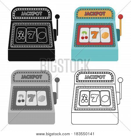 Slot machine icon in cartoon style isolated on white background. USA country symbol vector illustration.