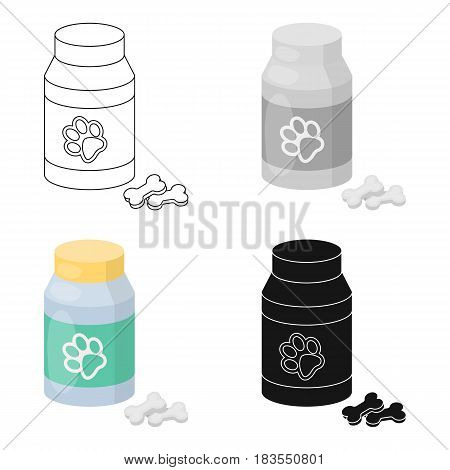 Veterinary medicine icon in cartoon design isolated on white background. Veterinary clinic symbol stock vector illustration.