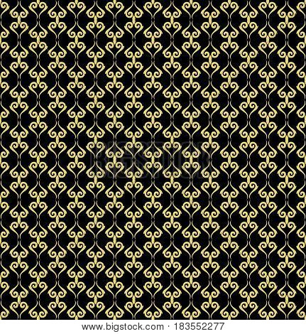Seamless classic black and golden pattern. Traditional orient ornament