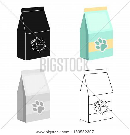 Pet food icon in cartoon design isolated on white background. Veterinary clinic symbol stock vector illustration.