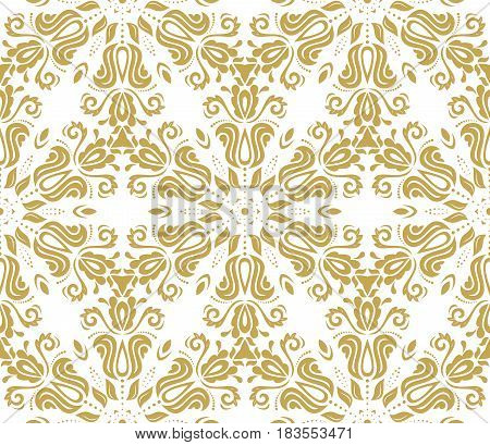 Seamless classic golden pattern. Traditional orient ornament