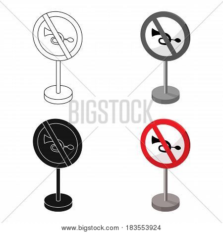 Prohibitory road sign icon in cartoon design isolated on white background. Road signs symbol stock vector illustration.