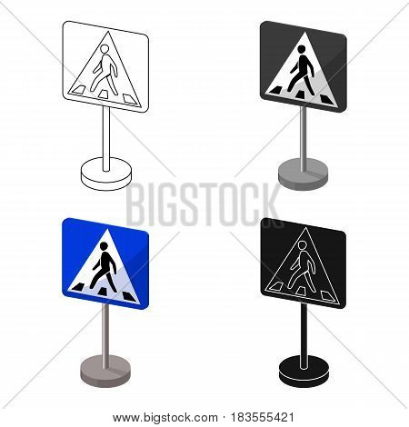 Information road signs icon in cartoon design isolated on white background. Road signs symbol stock vector illustration.