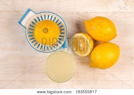 Freshly Squeezed Lemon And Lemonade Flay Lay