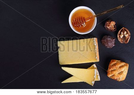 French Cantal Cheese Cut In Slice