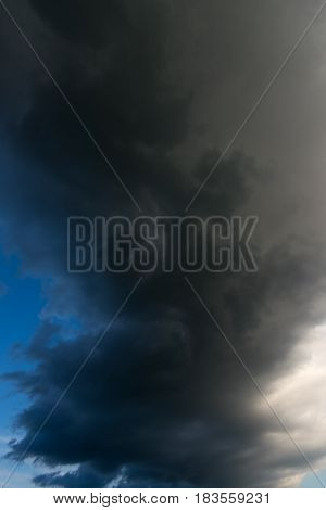 Dramatic storm cloud before a thunder storm as background.