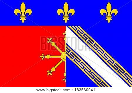 Flag of Chaumont is a commune of France and the capital of the Haute-Marne department. 3d illustration