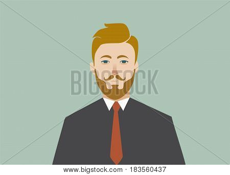 Businessman profile icon male portrait. Cartoon male avatar. Vector stock.