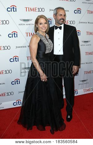 Katie Couric (L) and John Molner attend the Time 100 Gala at Frederick P. Rose Hall on April 25, 2017 in New York City.