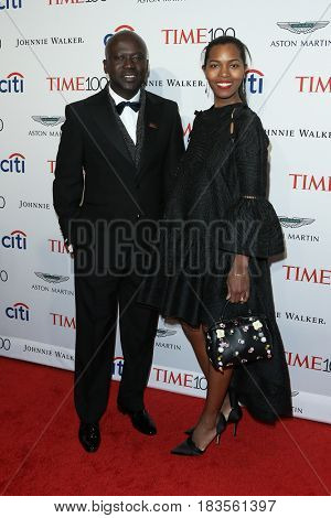 Sir David Adjaye (L) and Ashley Shaw-Scott attend the Time 100 Gala at Frederick P. Rose Hall on April 25, 2017 in New York City.