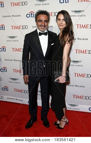 Hamdi Ulukaya (L) and Louise Vongerichten attend the Time 100 Gala at Frederick P. Rose Hall on April 25, 2017 in New York City.