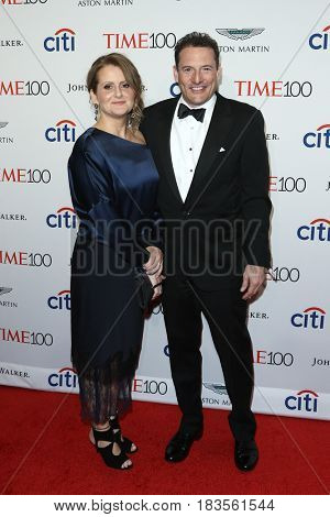 Brenda Battista (L) and Time Inc. CEO Rich Battista attend the Time 100 Gala at Frederick P. Rose Hall on April 25, 2017 in New York City.