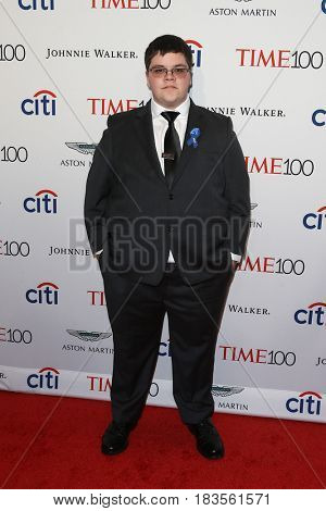 Gavin Grimm attends the Time 100 Gala at Frederick P. Rose Hall on April 25, 2017 in New York City.