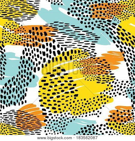 Fashionable seamless animal pattern background Colorful exotic animal print Vector pattern