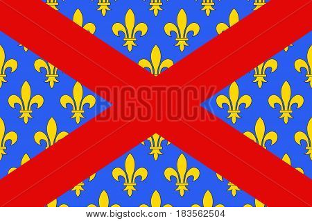 Flag of Langres is a commune in northeastern France. It is a subprefecture of the department of Haute-Marne in the region of Grand Est. Vector illustration