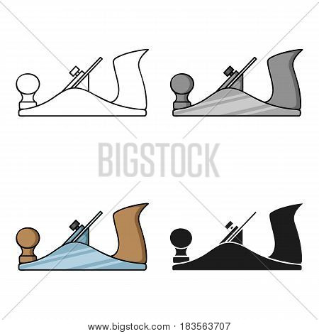 Jack plane icon in cartoon style isolated on white background. Sawmill and timber symbol vector illustration.
