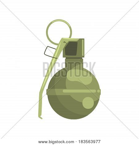Hand grenade. Military weapon colorful vector Illustration isolated on a white background