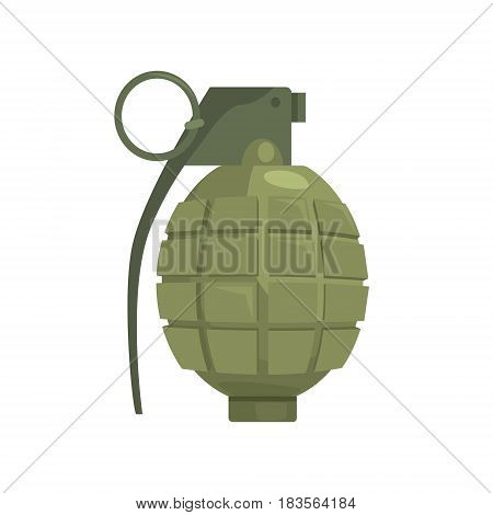 Pineapple hand grenade. Military weapon vector Illustration isolated on a white background