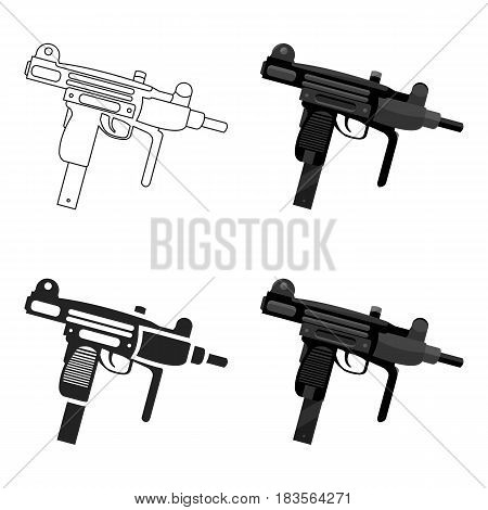 UZI weapon icon cartoon. Single weapon icon from the big ammunition, arms cartoon.