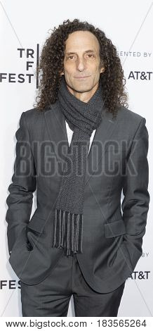 New York NY USA - April 19 2017: Muscian Kenny G attends the 2017 Tribeca Film Festival - 'Clive Davis: The Soundtrack Of Our Lives' world premiere - opening night at Radio City Music Hall