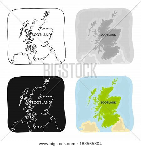Territory of Scotland icon in cartoon design isolated on white background. Scotland country symbol stock vector illustration.