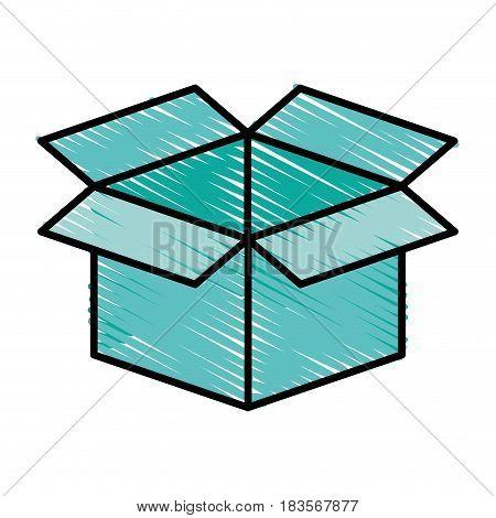carton box packing icon vector illustration design
