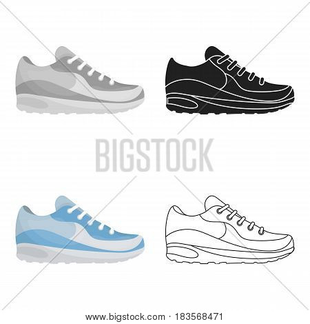Sneakers icon in cartoon style isolated on white background. Shoes symbol vector illustration.