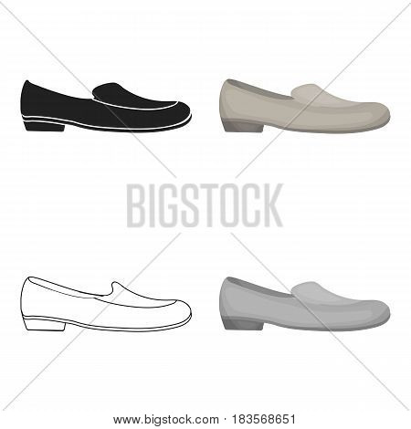 Loafers icon in cartoon style isolated on white background. Shoes symbol vector illustration.