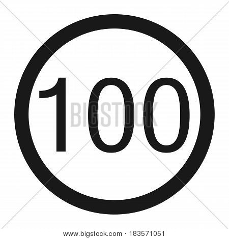Maximum speed limit 100 line icon, Traffic and road sign, vector graphics, a solid pattern on a white background, eps 10.